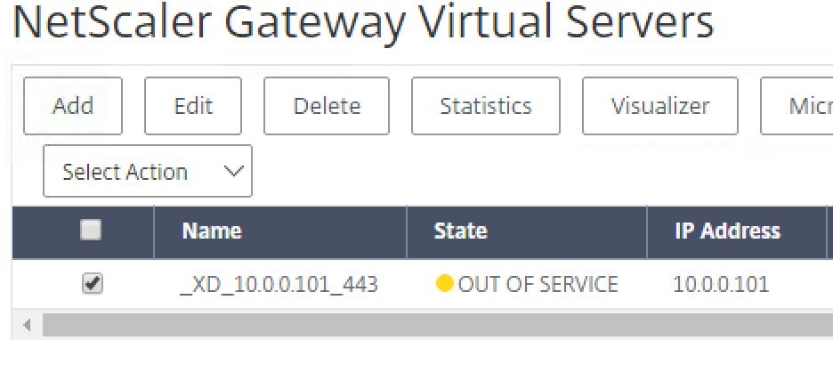 Virtual Server Disabled